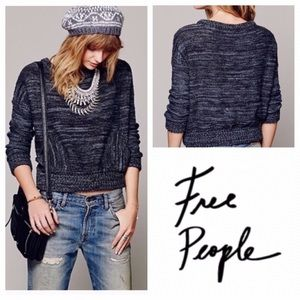 Free People In the Pocket Gray Wool Blend Sweater